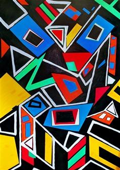 MaskOfWorro  - Opus Un Acrylic with Satin Varnish Polymer, Paintings