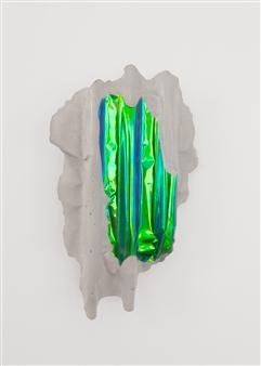 Mateusz von Motz - Prima Materia Energy Stone, Yellow Green Mixed Media, Sculpture