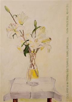 Jorge Garcia-Sainz - Flowers for My Sister Oil on Canvas, Paintings