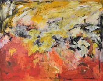 Annette Balsgaard - Birds Acrylic on Canvas, Paintings