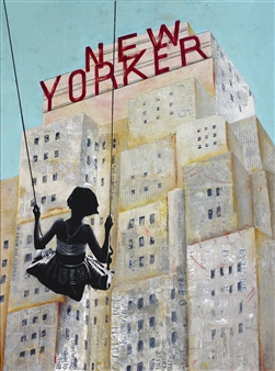 db Waterman - New Yorker Acrylic on Canvas, Paintings