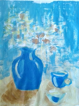 Yu He - Still Life No. 579 Acrylic on Canvas, Paintings