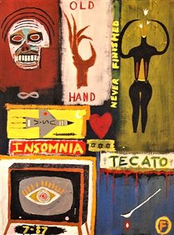 Fernando Magdaleno - Tecato Acrylic on Canvas, Paintings
