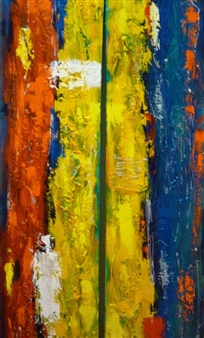 Zivi Aviraz - In the Middle Mixed Media on Canvas, Paintings