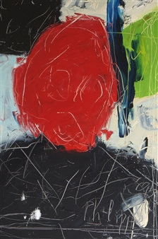 Philippe Thélin - Tête Rouge Oil on Canvas, Paintings