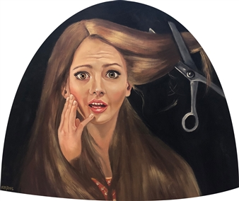 Rosana Largo Rodríguez - Anguish Oil on Canvas of Wood, Bell Shape, Paintings