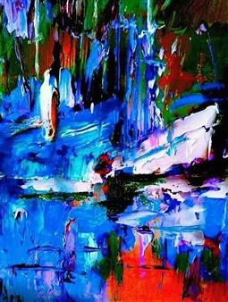 Babis (Bujar) Arizi - Untitled 3 Oil on Canvas, Paintings