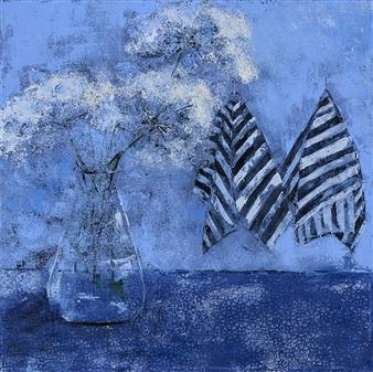 Olena Bogatska - Yarrow Oil on Canvas, Paintings
