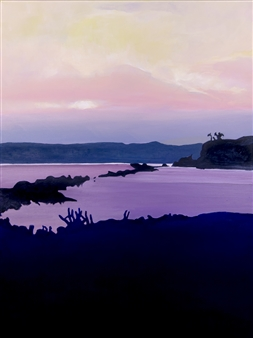 Gabriella Mirabelli - Croton Landing Sunset Acrylic on Canvas, Paintings