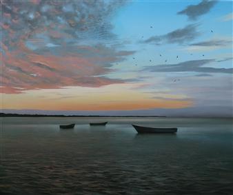 Mauricio Valdiviezo - Cerca del Puerto Oil on Canvas, Paintings