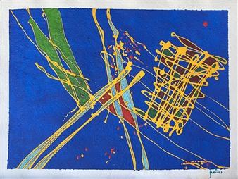 Ignatius - Stilt Walkers Acrylic on Paper, Paintings