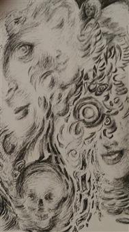 Oleg Kirnos - Underworld Pencil on Paper, Drawings