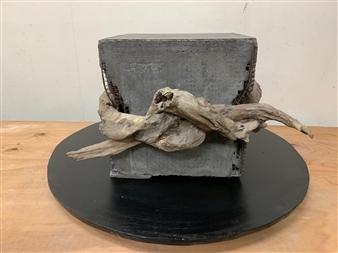 Akemi Fujita - Tie Wood, Sculpture