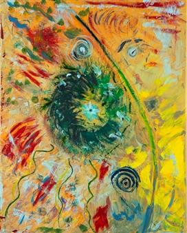 Jodi DeCrenza - Tigers Garden Acrylic & Oil on Canvas, Paintings