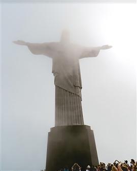 Andrea Braunfeld - Statue of Christ Brazil Archival Pigment Print, Photography