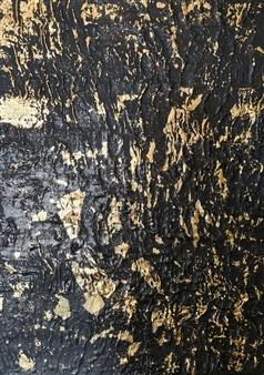 Konka - Don't Gain the World Mixed media, Acrylic, Plaster and 24K Gold Leaves on Canvas, Mixed Media