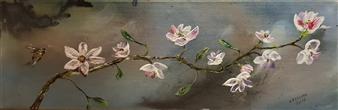 Anders Ekelund - Magnolia Acrylic on Canvas, Paintings