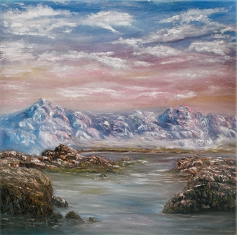 Dora Duran - Ethereal Mountains Oil on Canvas, Paintings