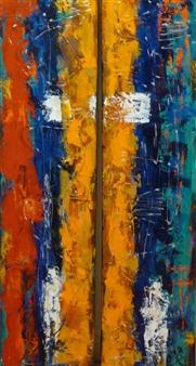 Zivi Aviraz - The Left Side Mixed Media on Canvas, Paintings