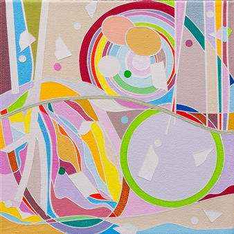 Ai-Wen Wu Kratz - New Find / No.2 Acrylic on Canvas, Paintings