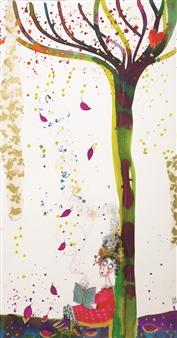 Ilaria Castagnacci - Seasonal Readings Watercolor & Ink on Paper, Paintings