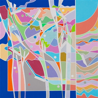 Ai-Wen Wu Kratz - Color Logic III Acrylic on Canvas, Paintings