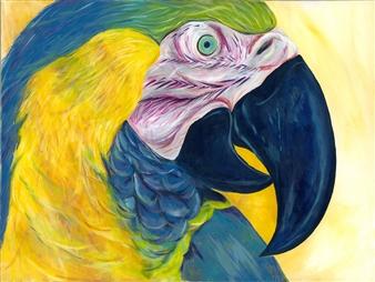 Travis Ballantyne - Parrot Acrylic on Canvas, Paintings