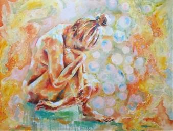 Grady Zeeman - I am Incredibly Grateful Oil on Canvas, Paintings