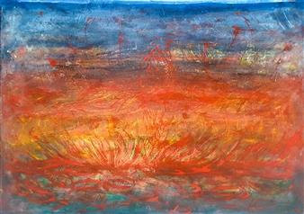 claracarat - The Dawn of the Universe Acrylic on Kapa, Paintings