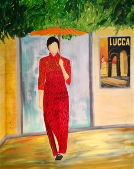Annette Balsgaard - Lucca Acrylic on Canvas, Paintings