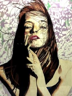 Atsushi Imai - Woman #1 Colored Pencil on Paper, Drawings
