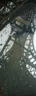 Emanuele Biagioni - Sotto la Torre Eiffel Acrylic on Board, Paintings