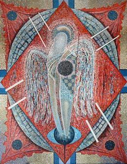 Alexander Ossipov (TOTUR) - The Angel Oil on Canvas, Paintings