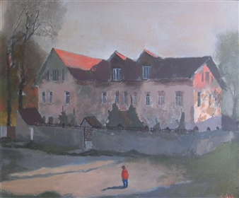 Artem Novoselov - Old Walls Oil on Canvas, Paintings