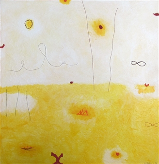 Barbara Demsar - Landscape Acrylic, Collage & Mixed Media on Canvas, Mixed Media