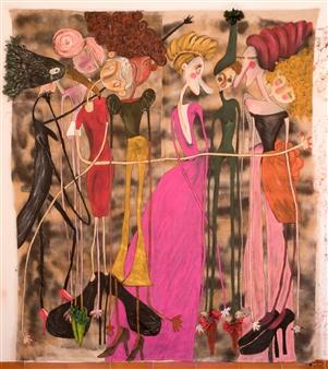 Mar De Redin - El Gran Abrazo Acrylic & Mixed Media on Linen Canvas, Mixed Media