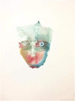 Jennifer Morrow - Unnamed No7 Watercolor & Ink on Paper, Paintings