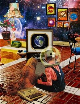Gloria Bhargava - Life on Mars Digital Collage, Digital Art