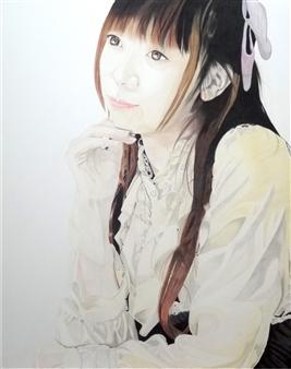 Atsushi Imai - Woman 2 Colored Pencil on Paper, Drawings
