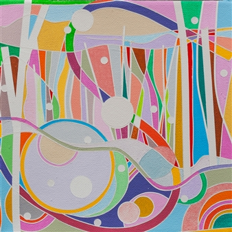 Ai-Wen Wu Kratz - New Find / No.3 Acrylic on Canvas, Paintings