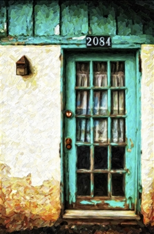 Bill Young - Turquoise Door Digital Art and Acrylic on Canvas, Digital Art