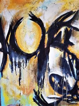 Luisa Vicente Isola - Movimiento III Acrylic on Canvas, Paintings