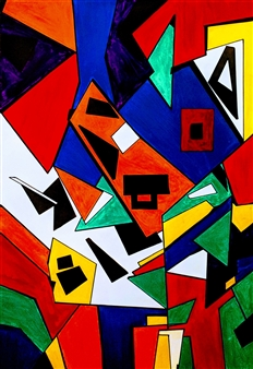 MaskOfWorro  - The Look Acrylic on Canvas, Paintings