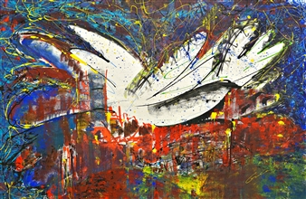 Gui Calil - Angels Afflictions Acrylic on Canvas, Paintings