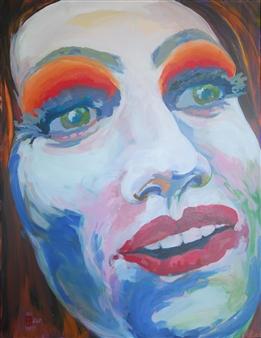 Eric Raffy - Trans 9 Acrylic on Canvas, Paintings