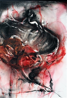 Dana Ingesson - Liberation Watercolor on Paper, Paintings