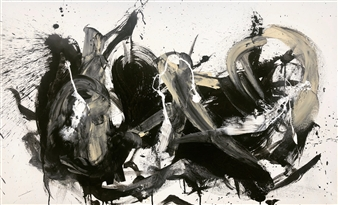 KEO - Chikara Acrylic & Ink on Canvas, Paintings