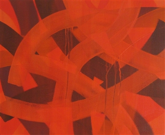Akihito Izumi - Composition-9 Oil on Canvas, Paintings