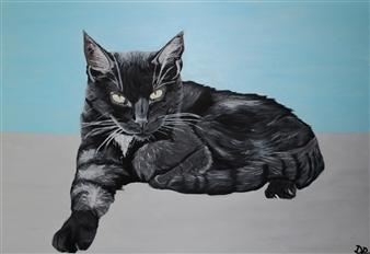 David Pallua - Sammy Acrylic on Canvas, Paintings