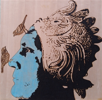 Carlo Proietto - The Shape of Water Pyrography, Paintings